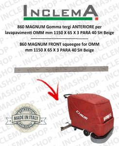 860 MAGNUM goma de secado delantera para fregadora OMM