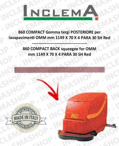 860 COMPACT goma de secado trasero para fregadora OMM