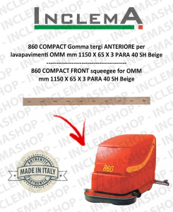 860 COMPACT Gomma tergi ANTERIORE per lavapavimenti OMM