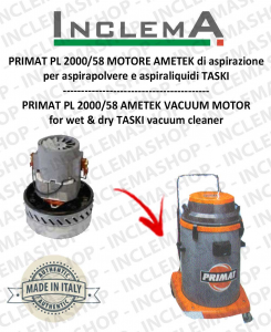 PRIMAT PL 2000/58 MOTORE AMETEK aspirazione per aspirapolvere TASKI