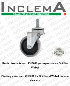 Ruota pivotante cod: 2510091 per aspirapolvere Ghibli e Wirbel