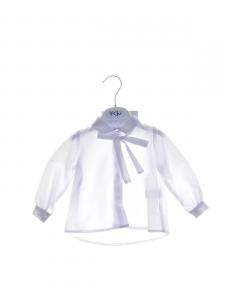 Camicia bianca con nastro sul retro