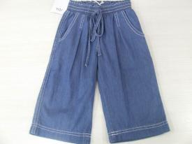Pantalone effetto jeans con laccio