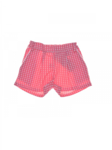 Pantaloncino rosa con pois bianchi