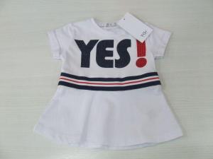 T-Shirt bianca con stampa scritta, strass e banda multicolore