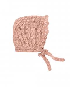 Cuffietta rosa con laccio