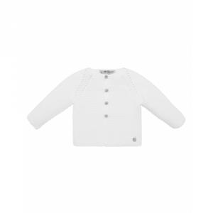 Cardigan bianco con medaglietta