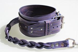 Set collare + guinzaglio artigianali in cuoio