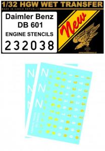 DAIMLER BENZ DB 601 ENGINE STENCIL