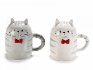 Tazza mug con coperchio e gattino (713706)