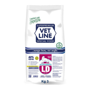 Vet Line Accrescimento Less dry Agnello 3 Kg