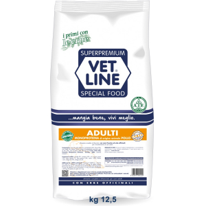 Vet Line Adulti pollo monoproteico All Breeds 12,5   kg