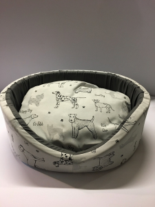 Cuccetta Sfoderabile mis 50 Unitex Stampa Happy dog 50x42x17 cm Made in Italy