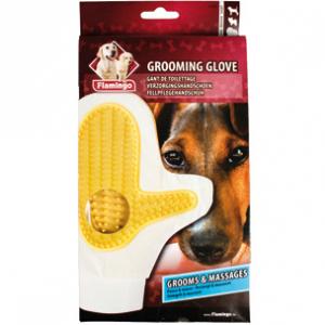 Flamingo Grooming Glove Helena  guanto per la cura del manto