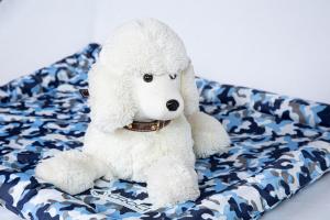 Fresh mat cuscino refrigerante  Stampa mimetica blu. Dimensioni 77x63 cm