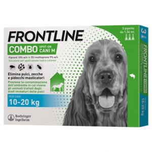 Frontile Combo per Cani di peso tra 10-20 kg. 3 pipette da 0,67 ml