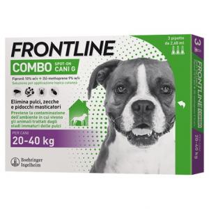 Frontile Combo per Cani di peso tra  20-40  kg 3 pipette 0,67 ml