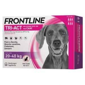 Frontile tri-act spot on per Cani di  peso tra 20-40 kg3 fiale x 2 ml