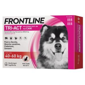 Frontile tri-act spot on per Cani di  peso tra 40-60 kg 3 fiale x 2 ml