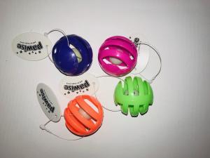 Imac Pawise pallina in plastica con sonaglino colori assortiti  diametro 2 cm