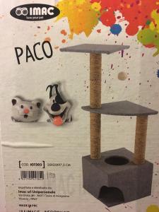 Imac Tiragraffi  Paco con base tunnel, e 2 mensole dimensioni 35x35x97,5 cm da assemblare (istruzioni incluse)