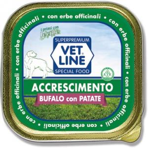 Mangime umido Accrescimento bufalo  con patate 150 gr Vet Line