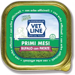 Mangime umido Primi mesi bufalo con  patate 150 gr Vet Line