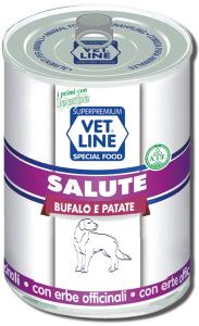 Mangime umido Salute bufalo con patate 400 gr Vet Line