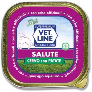 Mangime umido Salute cervo con patate 150 gr Vet Line