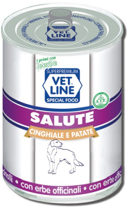 Mangime umido Salute cinghiale con patate 400 gr Vet Line