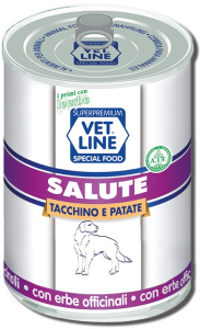 Mangime umido Salute tacchino con patate 400 gr Vet Line