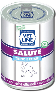 Mangime umido Salute tonno con patate 400 gr Vet Line