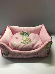 Nasonero Cuccetta Chihuahua Rosa o Marrone o avorio cuscino sfoderabile  45X34x17 cm Made in Italy
