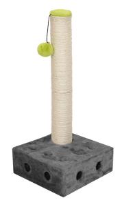 Tiragraffi Inter Active Cheese con pallina  colore grigio e corda 25x25x54,5 cm