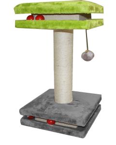 Tiragraffi Inter Active Floor colore grigio verde e corda con palline