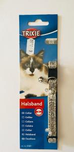 Trixie Collare gatto Collare in nylon con campanello. Colore argento