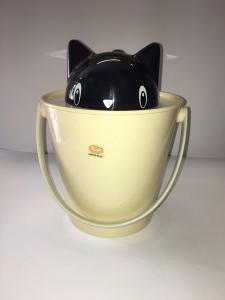 United Pets Porta crocchette Crick  design gatto  colore beige e nero