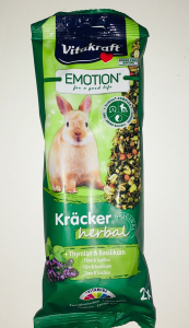 Vitakraft Emotion Kracker Herbal per conigli nani  Timo e Basilico 2 pz 112 gr