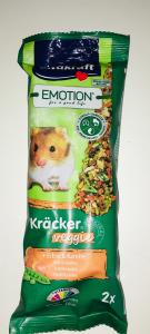 Vitakraft Emotion Kracker veggie per criceti piselli e carote 2 pz 112 gr