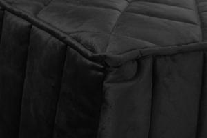 EVERGREENWEB - Pouf Letto Singolo con Materasso Waterfoam alto 10 cm - SUITE Salvaspazio Pieghevole -  VELLUTO