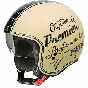 Casco jet Premier ROCKER OR20 Beige Nero