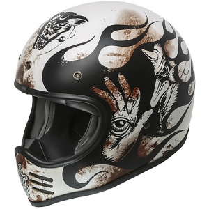 Casco integrale Premier MX BD8 BM in fibra Bianco Nero Marrone