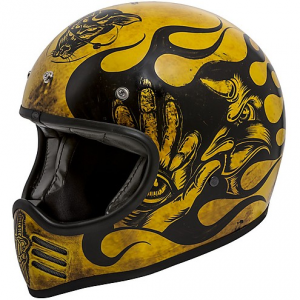 Casco integrale Premier MX BD 12 BM in fibra Nero Giallo