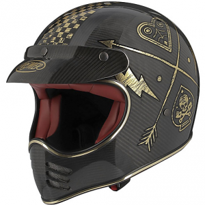 Casco integrale Premier MX CARBON NX in carbonio Oro cromato