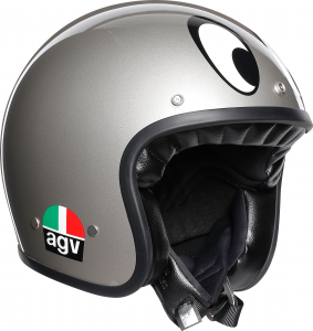 Casco jet AGV Legends X70 MULTI MONTJUIC in fibra argento