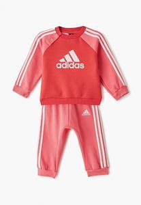 Tuta Adidas Logo Jog Bambina Con Bottoni Fucsia/White ED1178