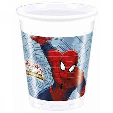 8 Bicchieri Spiderman