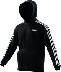 Felpa Adidas E 3s Fz Fl Black/White DQ3101