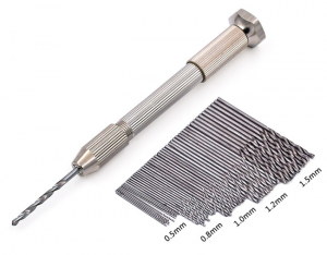 Hand Drill With Keyless Chuck + 50pcs Steel Twist Drill Bit Sets