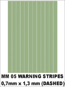 WARNING STRIPES (DASHED)